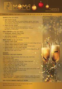 New years eve menu moma