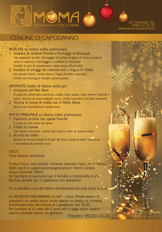 new year menu italian